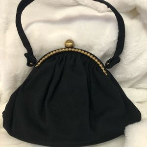 Vintage Black wool purse